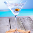 Refreshing martini cocktail - Stock Photo
