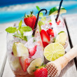 Mojito with Strawberries — Stock Photo