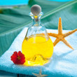 Poolside aromatherapy spa treatment — Stock Photo