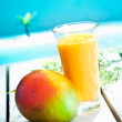 Creamy mango smoothie — Stock Photo