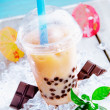 Bubble tea with berries — Stock Photo