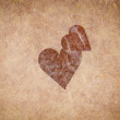 Vintage Textured Paper With Heart — Stock Photo