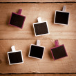 Six Polaroid-style photo frames — Stock Photo #8636584