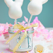 Happy Easter Cake pops - Stock Photo