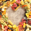 Colorful beauty Pasta Heart — Stock Photo