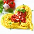Heart-shaped Pasta And Tomato — Stock Photo