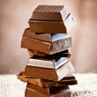 Staple Chocolate Tower — Stock Photo