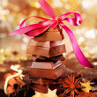 Festive Chocolate And Spices — Stock Photo