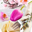 Romance Table setting — Stock Photo
