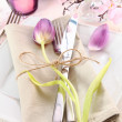 Elegant Floral Table Setting — Stock Photo