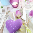 Romantic Elegant Place Setting — Stock Photo