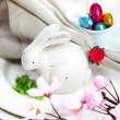 Easter Bunny Table Setting — Stock Photo