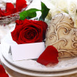 Wedding Place Setting — Stock Photo