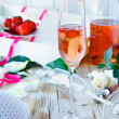 Strawberries And Champagne — Stock Photo
