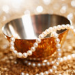 Pearls And Silver — Stock Photo