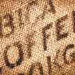 Hessian coffee background — Stock Photo