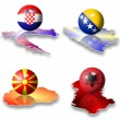 European flags Balkan — Stock Photo #10129211