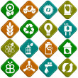 Ecological icons — 图库照片