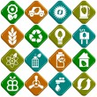 Ecological icons - Stock Photo