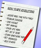 New Years resolutions list — Stock Photo