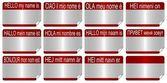 Name tags — Stock fotografie