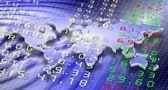 Stock exchange and world — Stock Photo