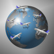 Airplanes and World — Stock Photo #8449126
