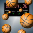 Royalty-Free Stock Photo: Basketball score