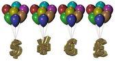 Money balloons — Stock Photo