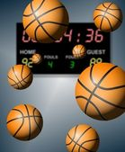 Basketball score — Stock Photo