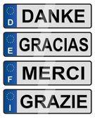 European number plates — Stock Photo