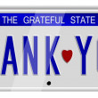 Foto Stock: Thank you number plates