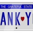Foto de Stock  : Thank you number plates