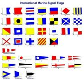 International marine signal flags — Stock Photo