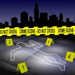 Crime scene in city — Stock Photo #8571321