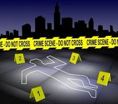 Crime scene in a city — Stock Photo