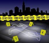 Crime scene in a city — Stock Photo