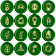 Green ecological icons — Stock fotografie