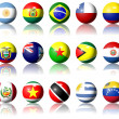 South American flags - Stock Photo