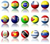 South American flags — Stock Photo