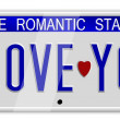 I love you number plates — Stock Photo #8743835