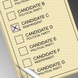 Ballot paper — Stock Photo