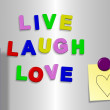 Live laugh love — Stock Photo