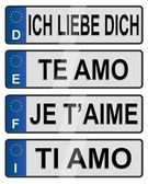 European number love plates — Stock Photo