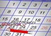Cancelado o feriado — Foto Stock