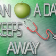 An apple a day keeps doctor away — Stock Photo #9196749
