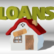 Royalty-Free Stock Photo: Loans and household