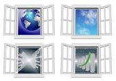 Window collection — Stock Photo