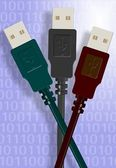 USB cables — Foto Stock