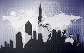 Digital technology city — Stock Photo